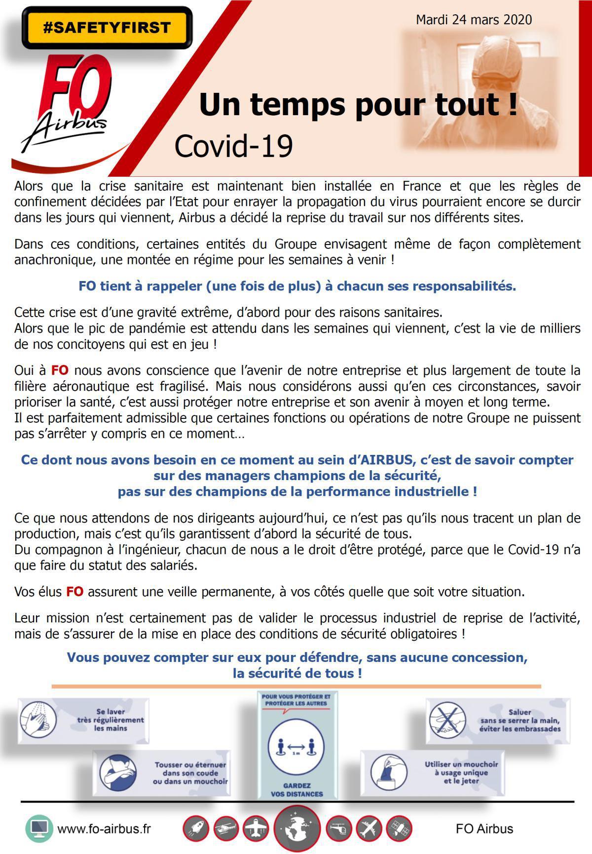 COVID-19, un temps pour tout!