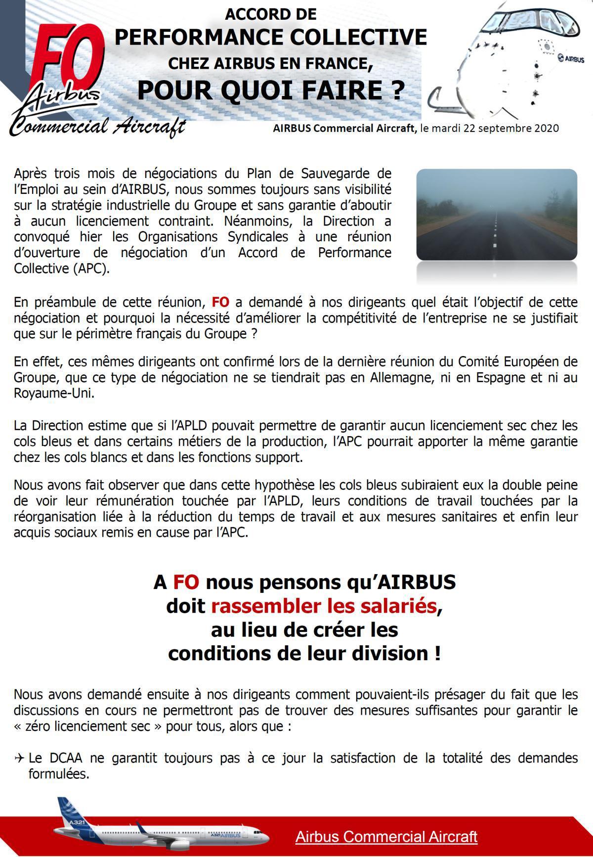 Accord de Performance Collective (APC)
