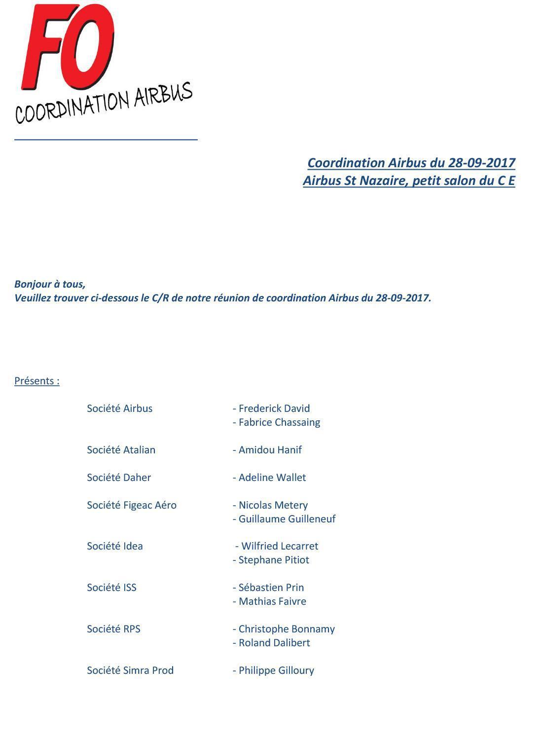 Coordination AIRBUS