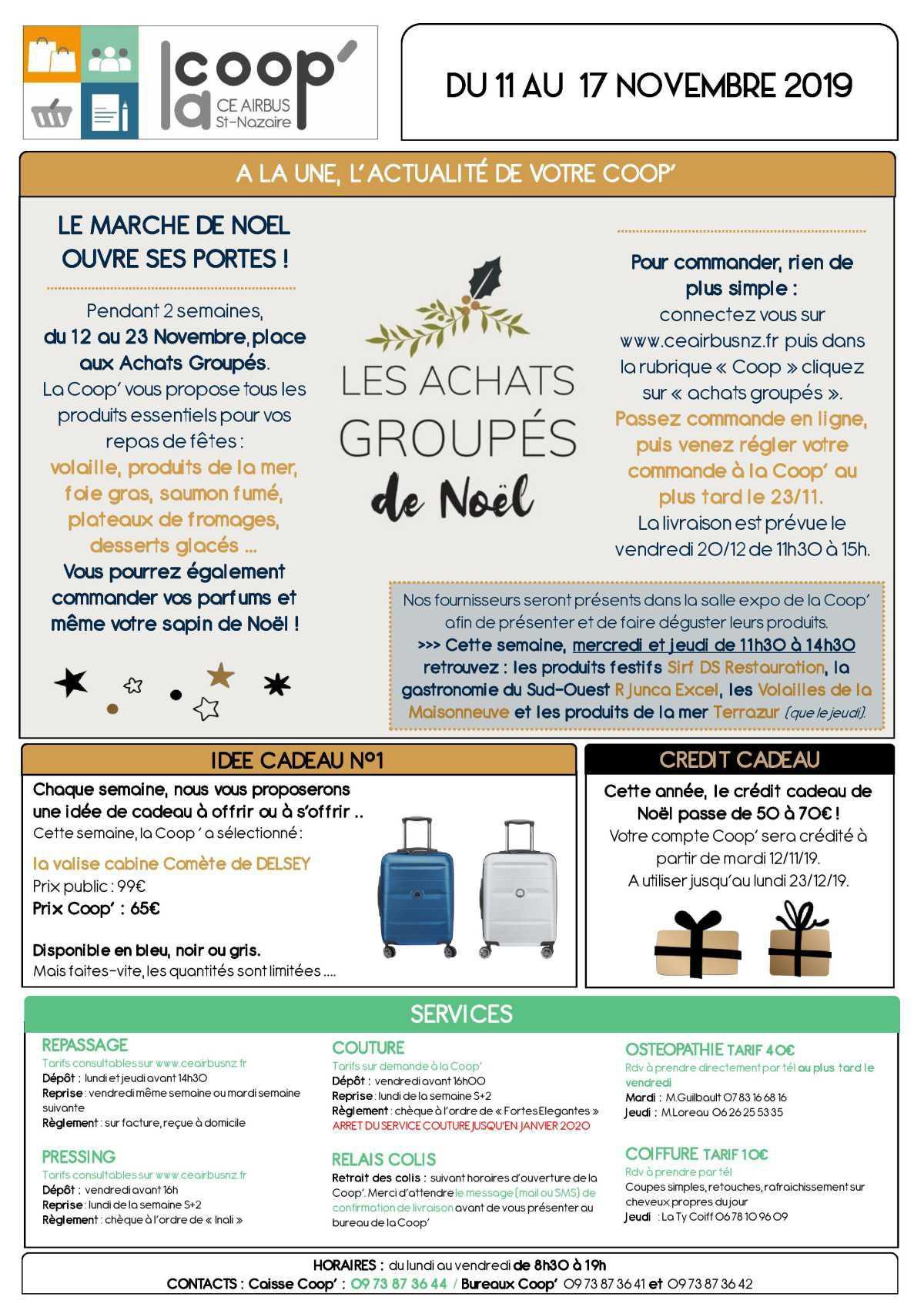 Infos CE / COOP semaine 46