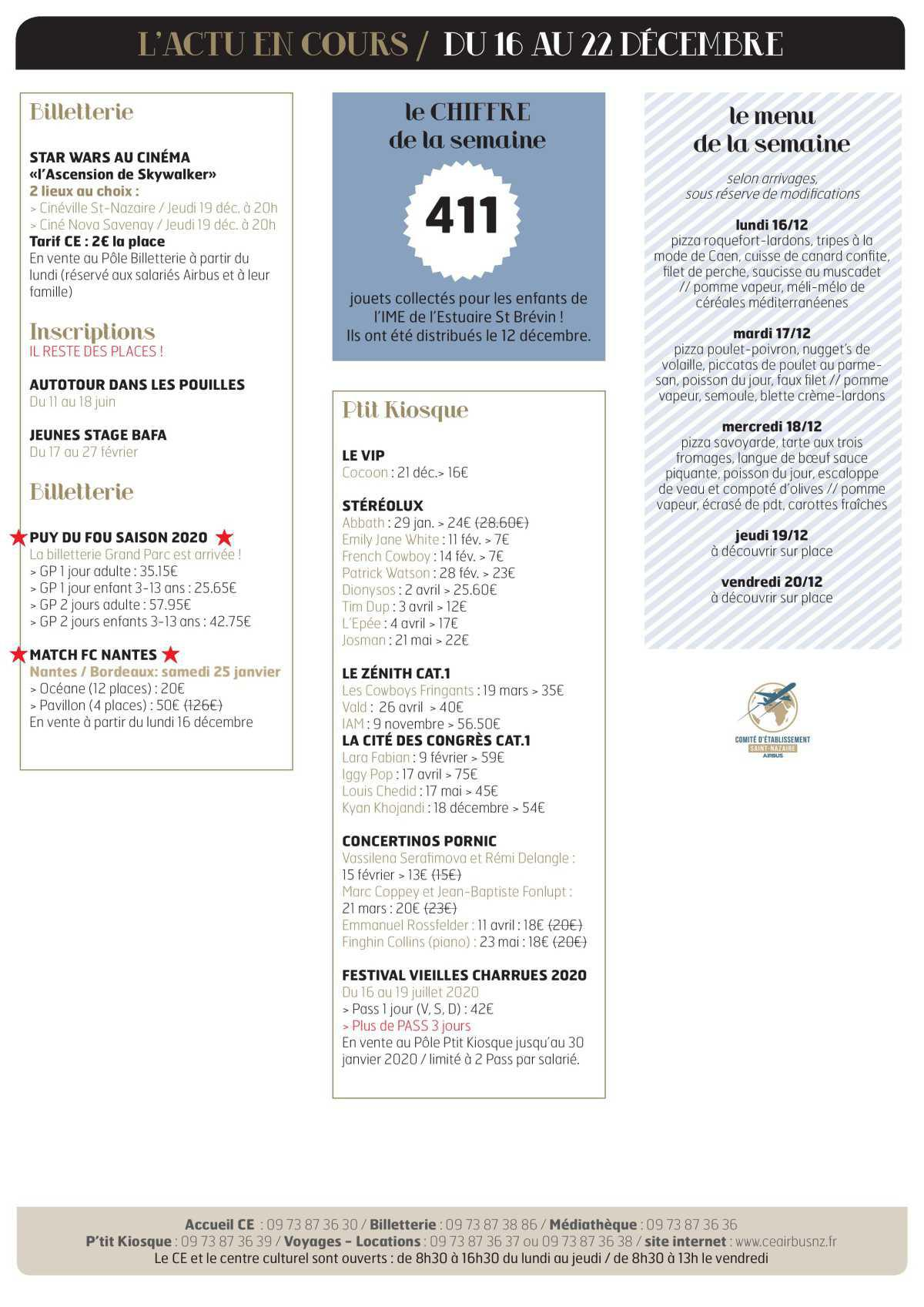 Infos CE/COOP Semaine 51