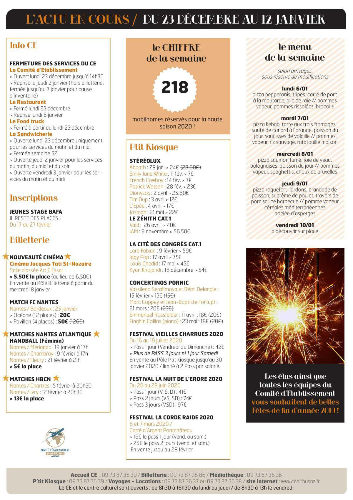Infos CE/COOP Semaine 52