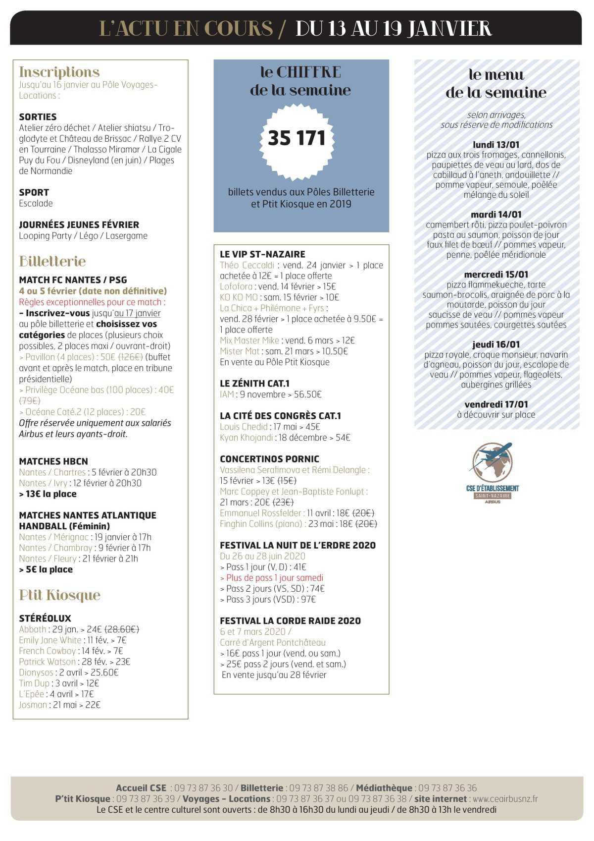 Infos CSE et COOP semaine 3