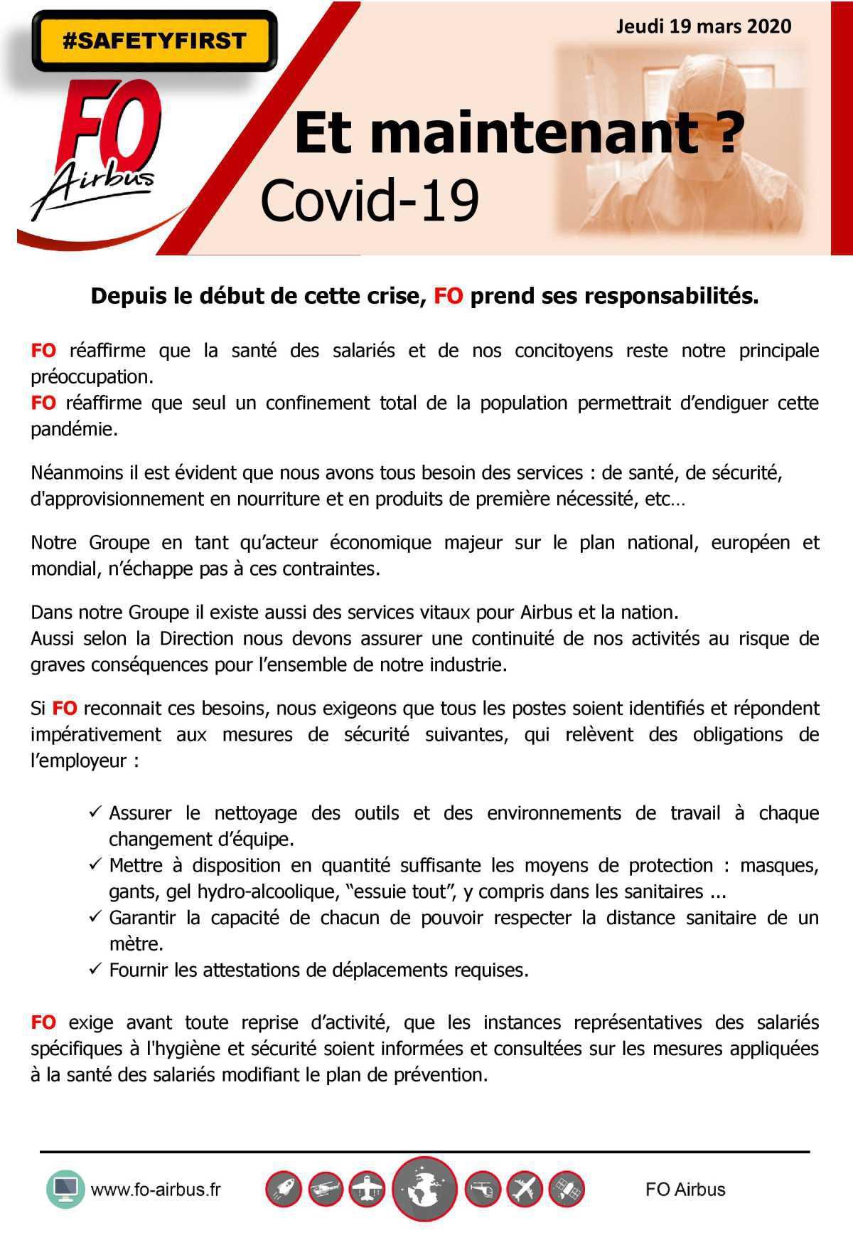 Et maintenant ? COVID-19