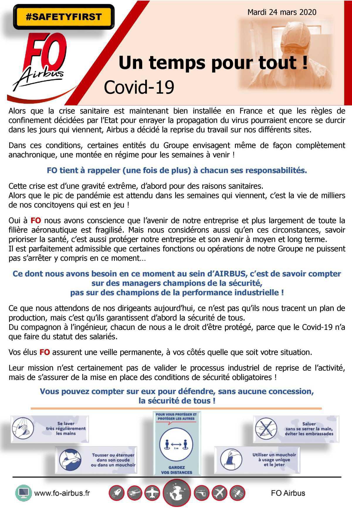 Un temps pour tout, COVID-19
