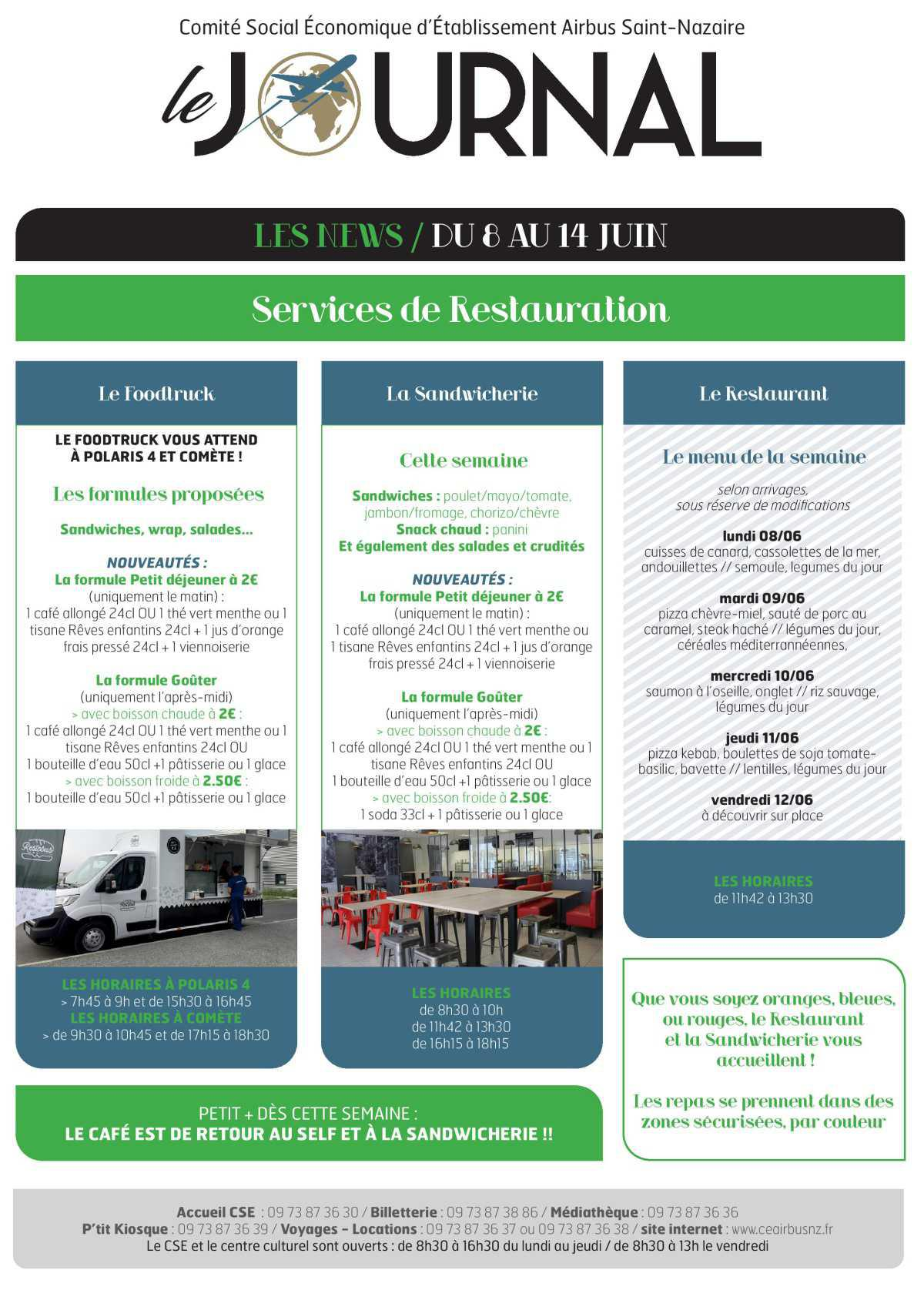 Informations CSE et COOP semaine 24