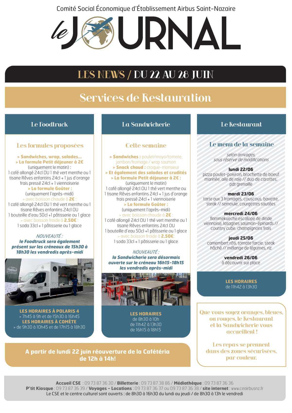 Infos CSE et COOP semaine 26