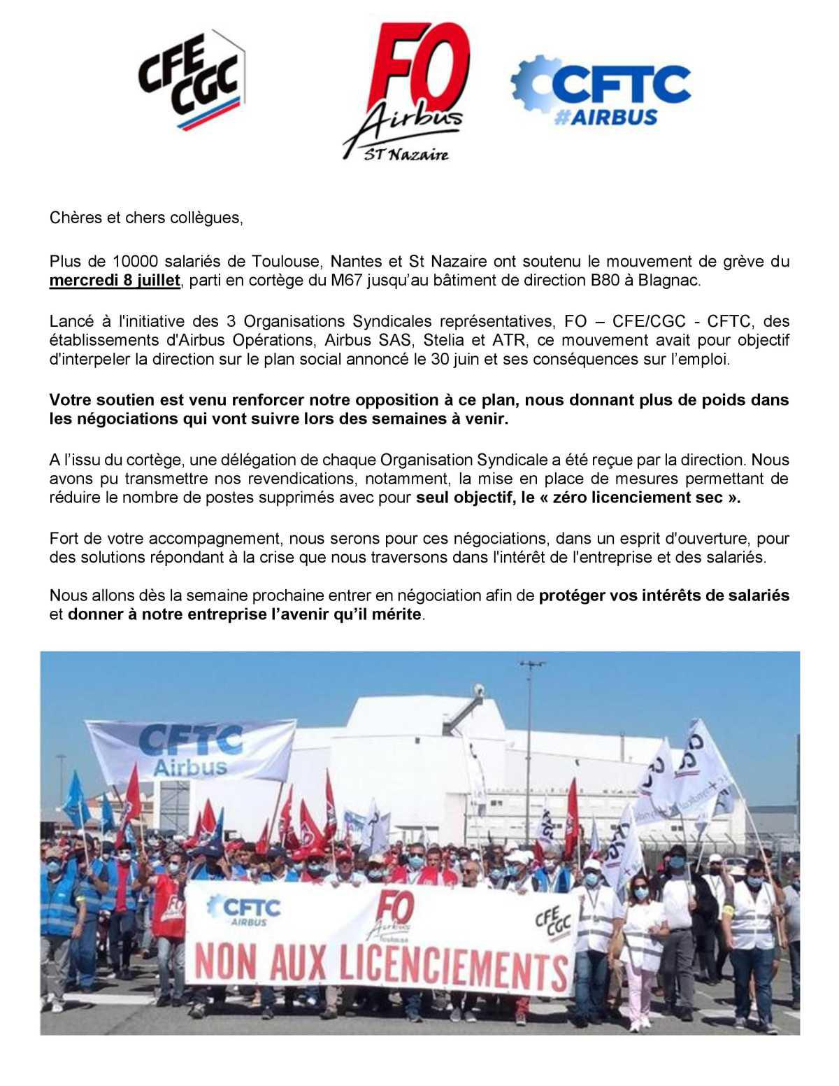 Mouvement grève du mercredi 8 juillet