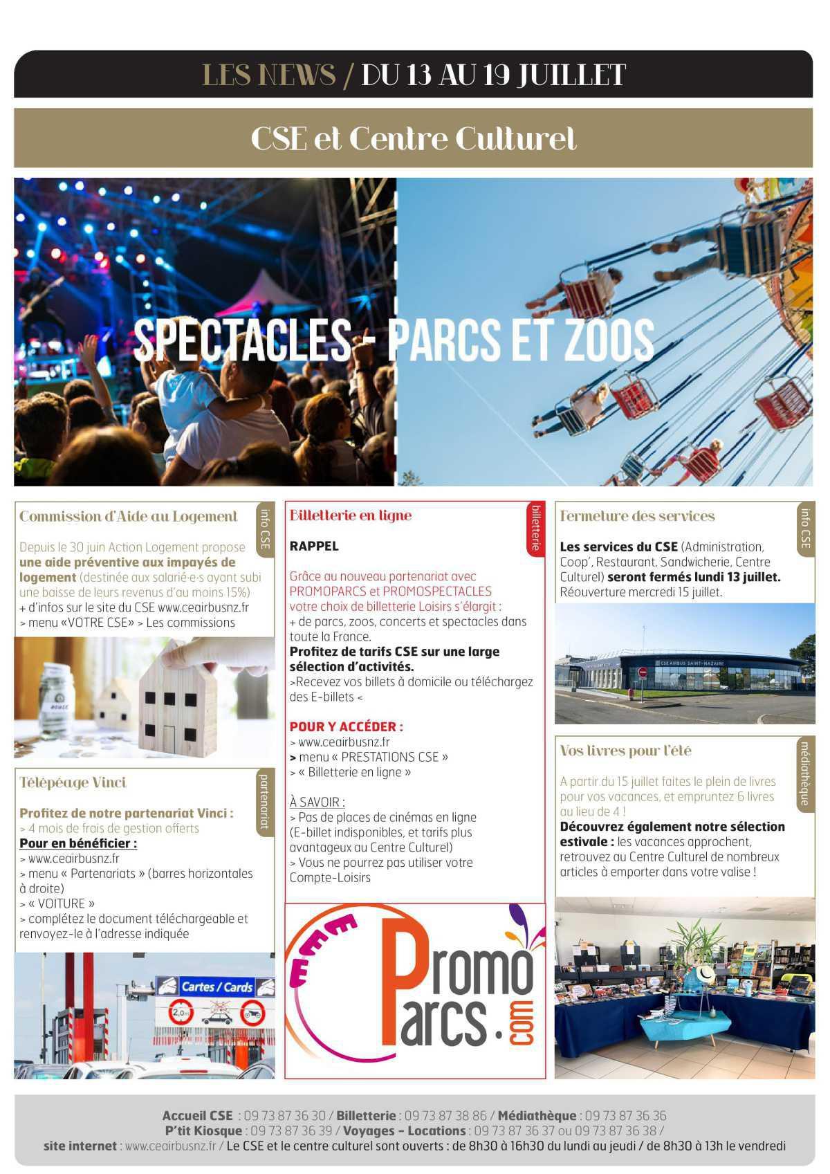 Infos CSE /COOP semaine 29