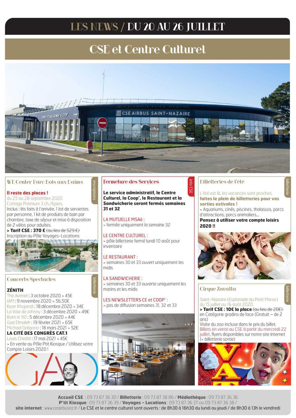 Infos CSE / COOP semaine 30
