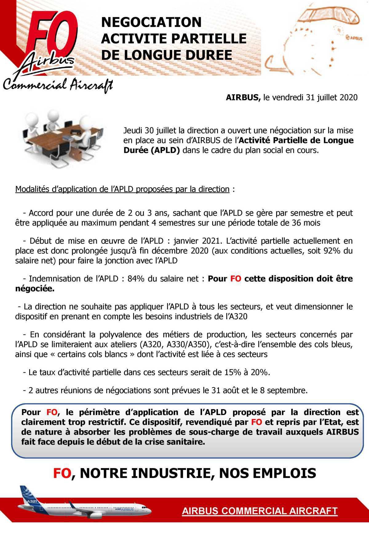 Négociation APLD (Activité Partielle Longue Durée)