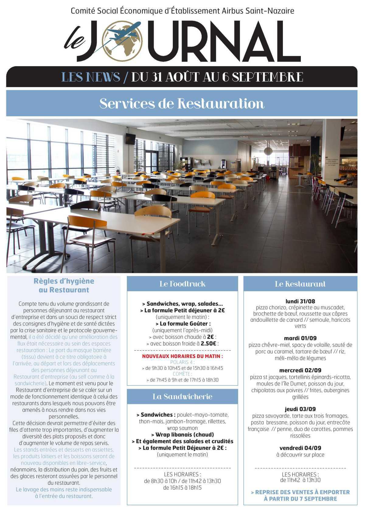 Infos CSE / COOP semaine 36