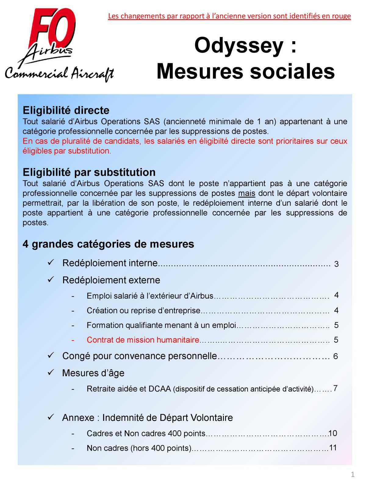 Synthèse sur les mesures sociales ODYSSEY