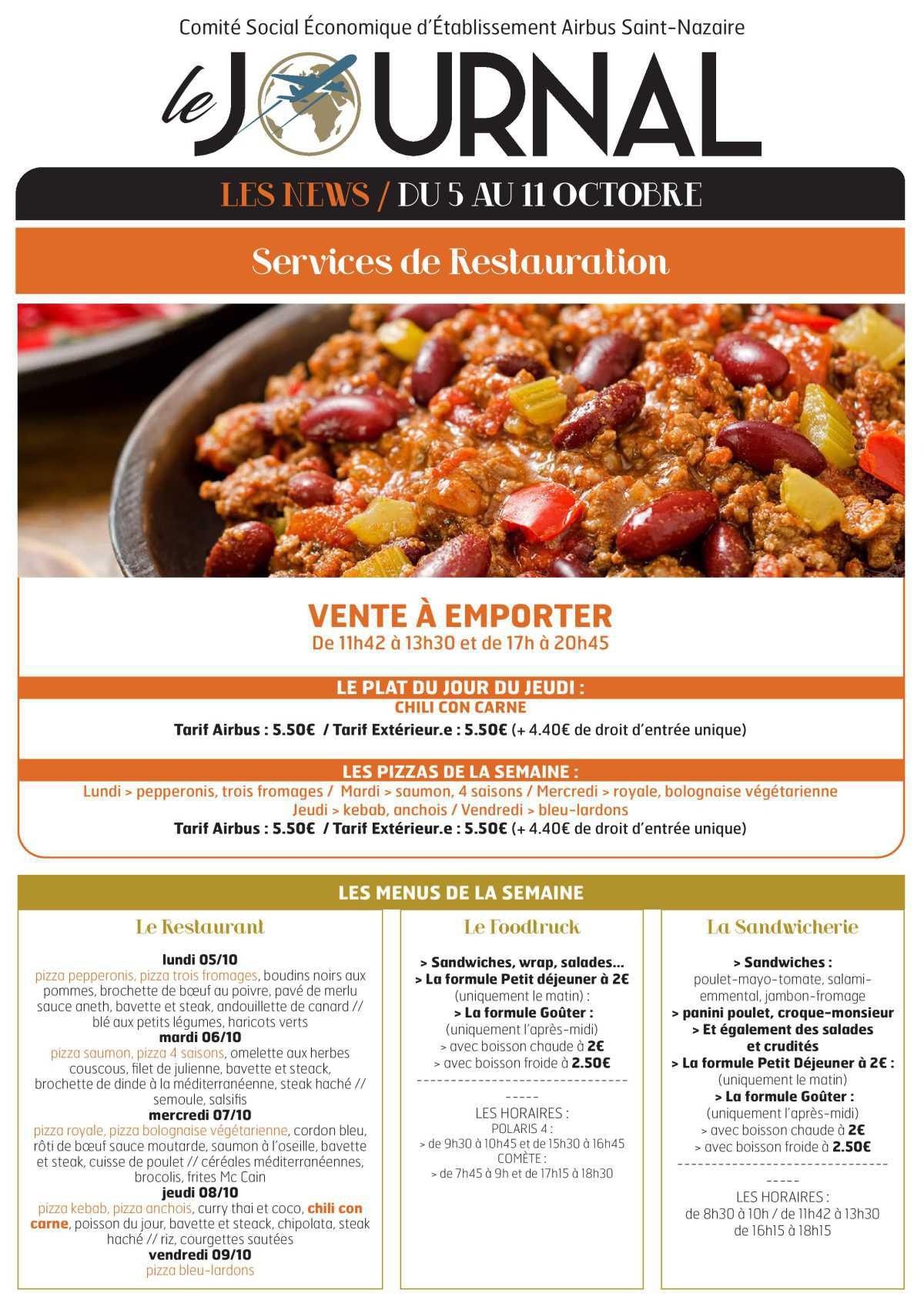 Infos CSE / COOP semaine 41