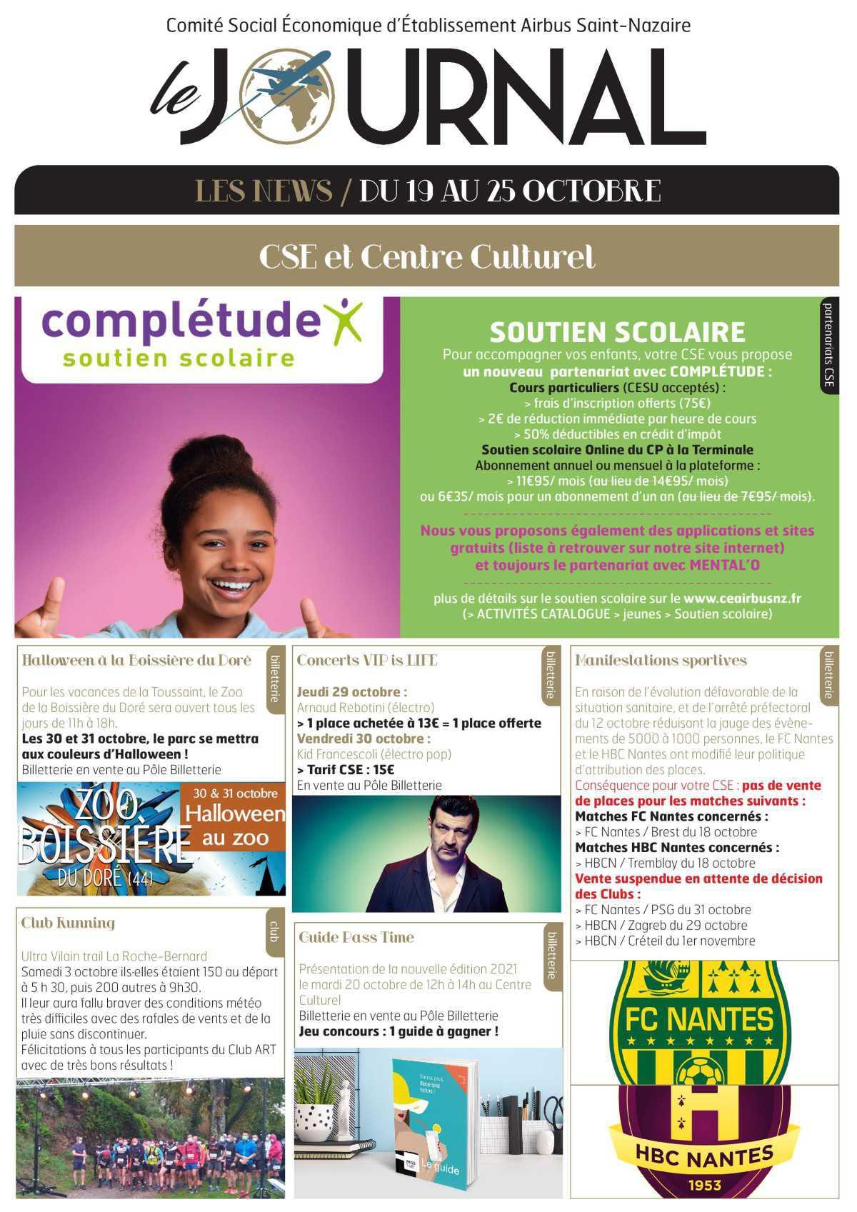Infos CSE/COOP semaine 43