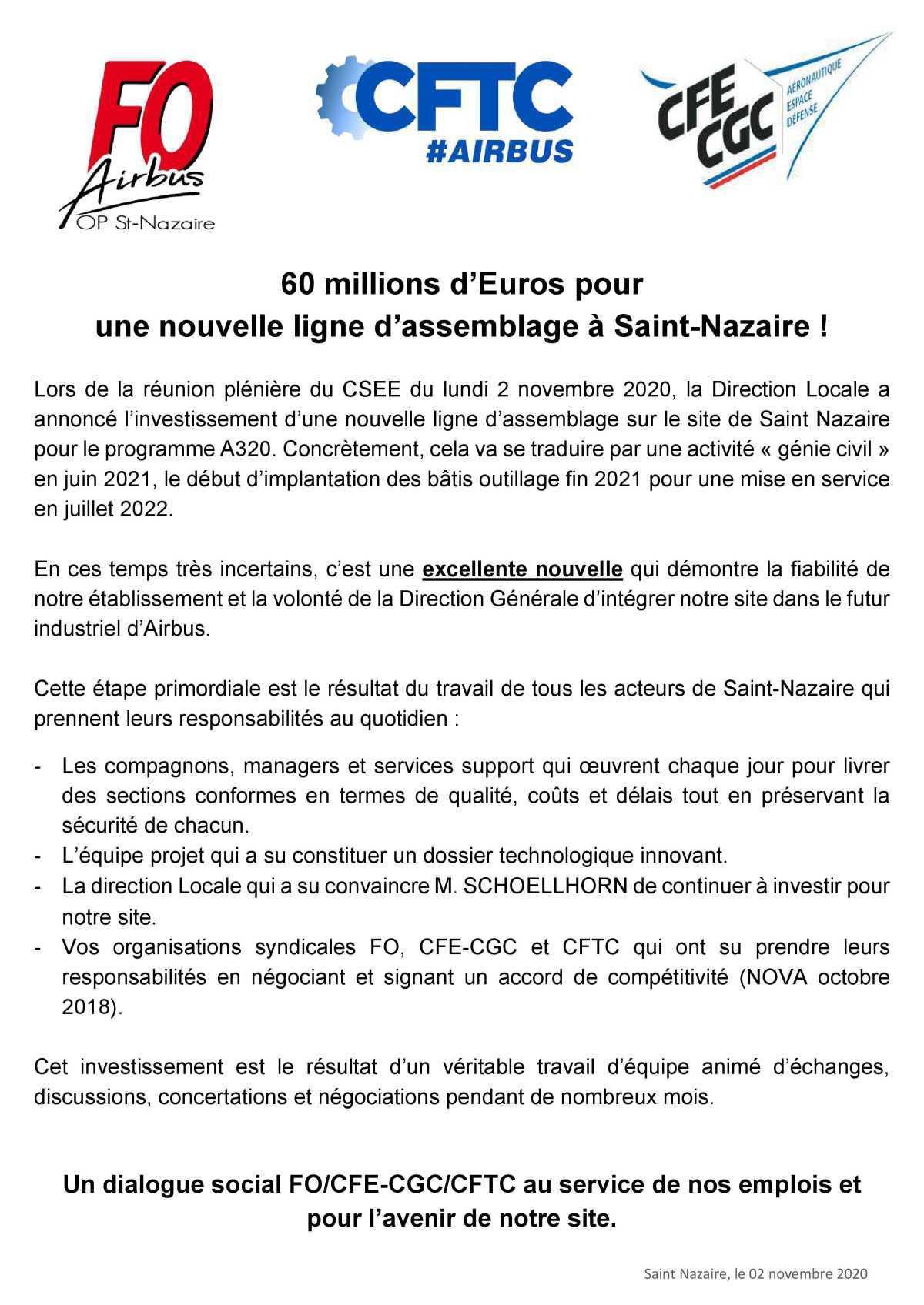 Une nouvelle ligne d'assemblage pour Saint-Nazaire
