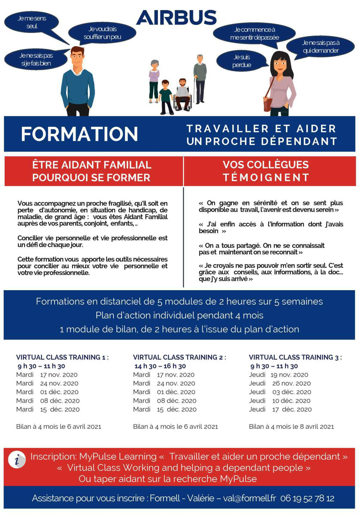 Aidant Familial : Des formations sont disponibles sous My Pulse Learning