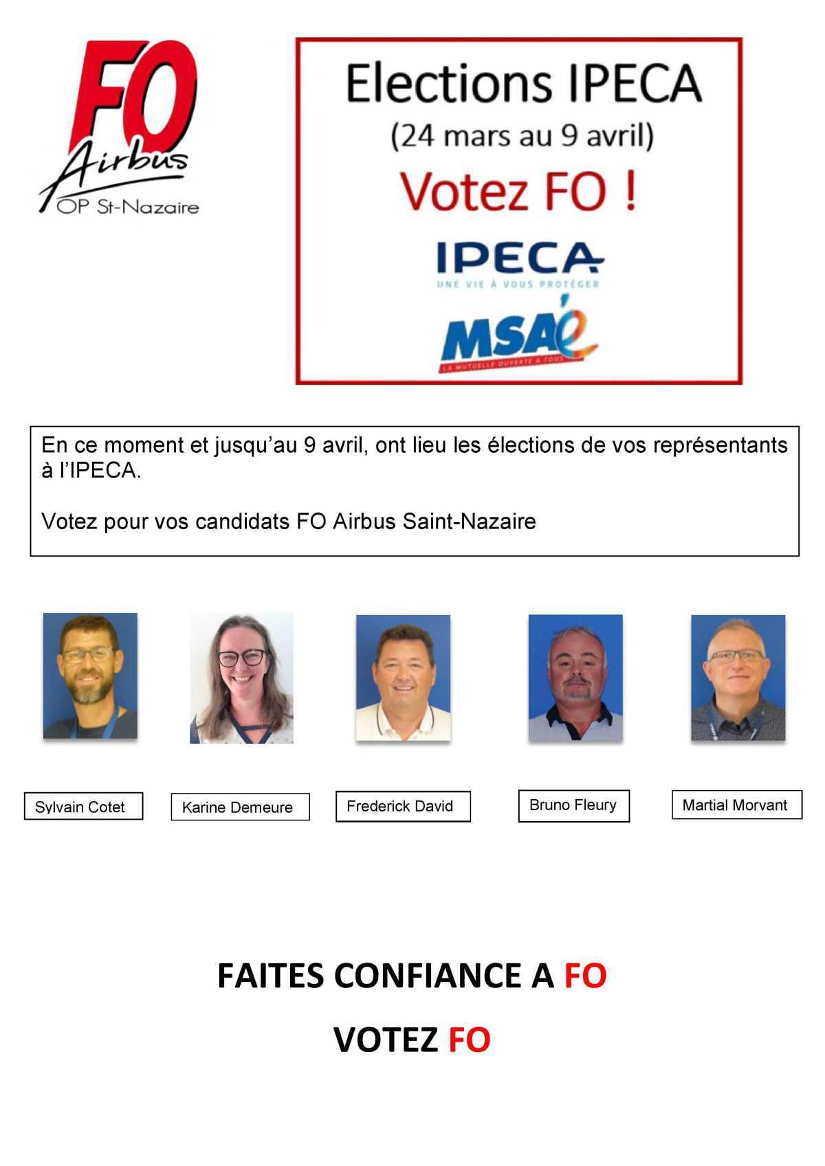 Candidats à l'élection IPECA