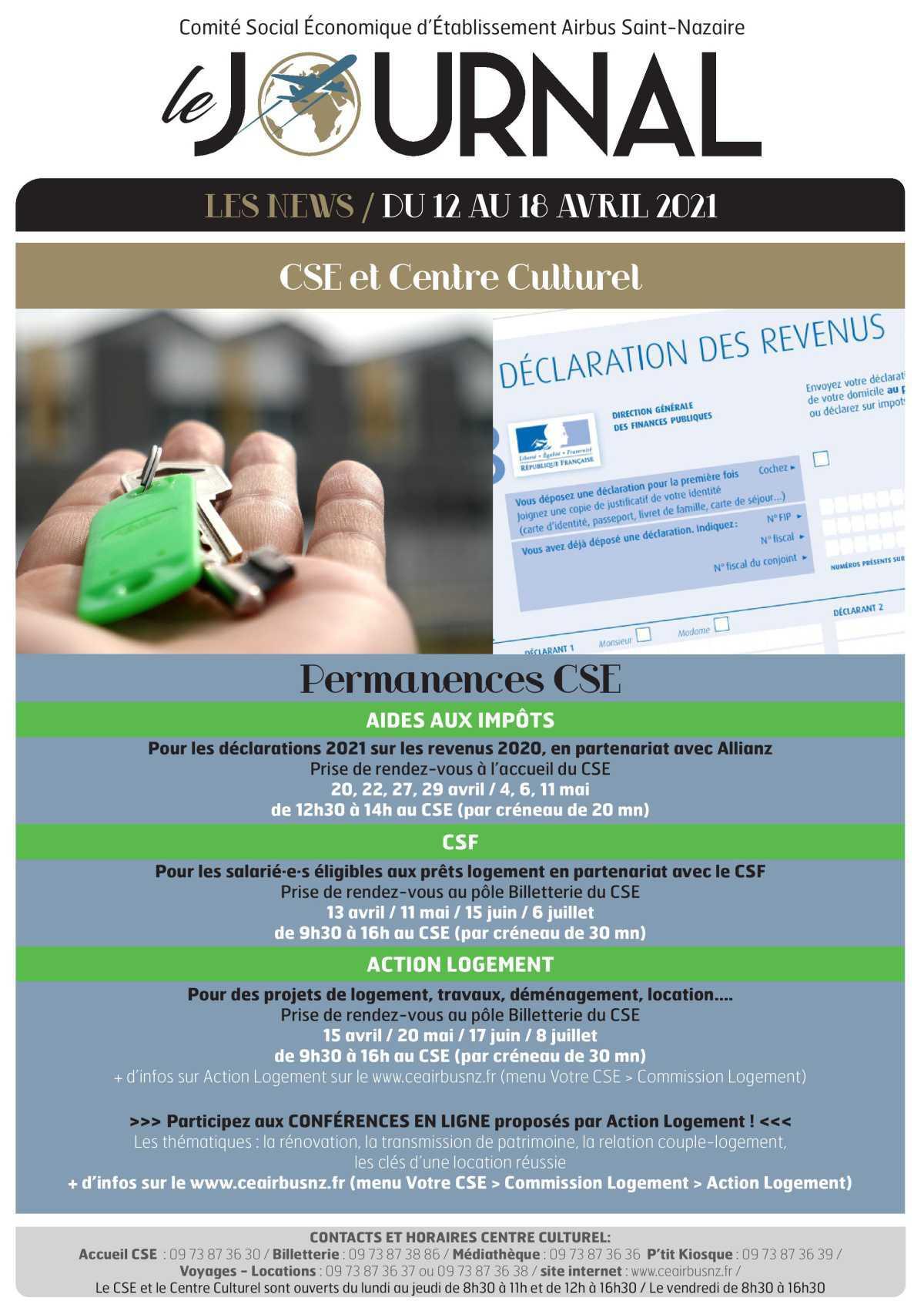 Information CSE et de la COOP semaine 15