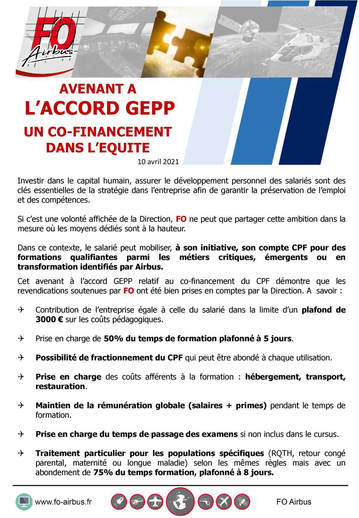 Avenant à l'accord GEPP : FO apposera sa signature