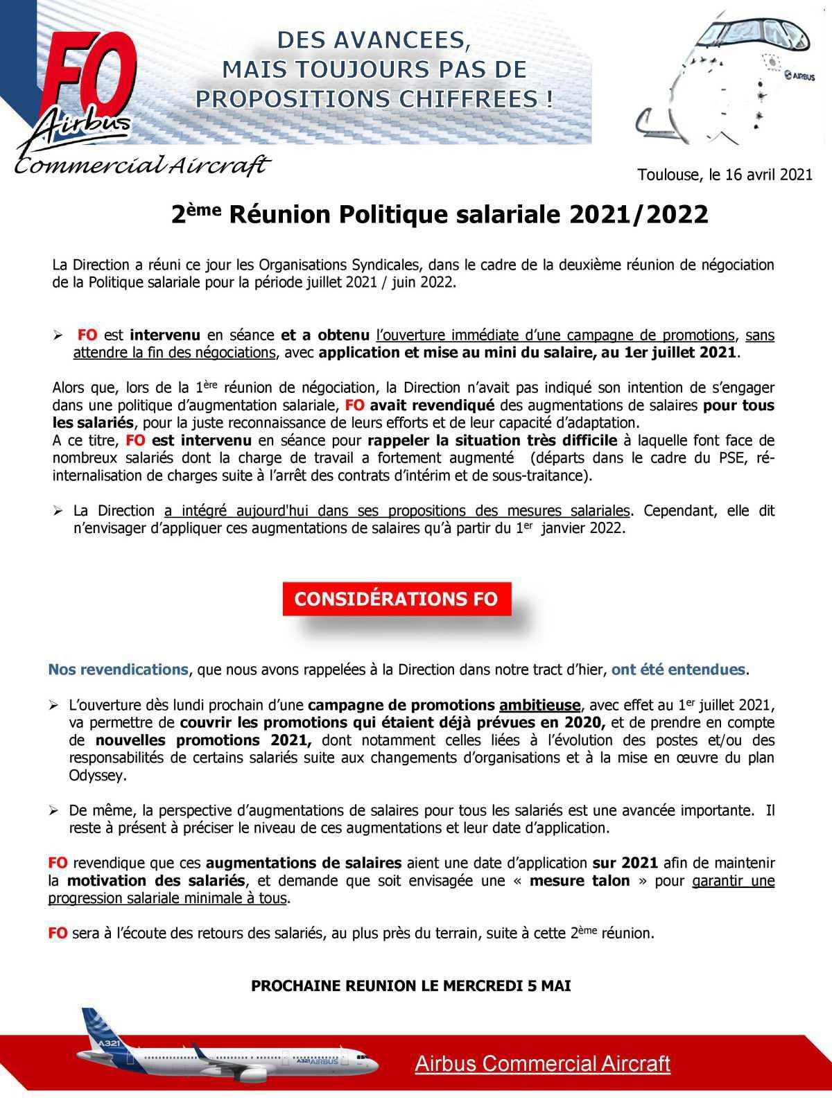 2eme réunion politique salariale 2021/2022