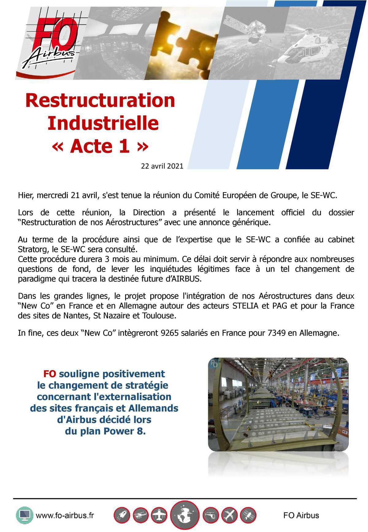 """Restructuration industrielle """"Acte 1"""""""