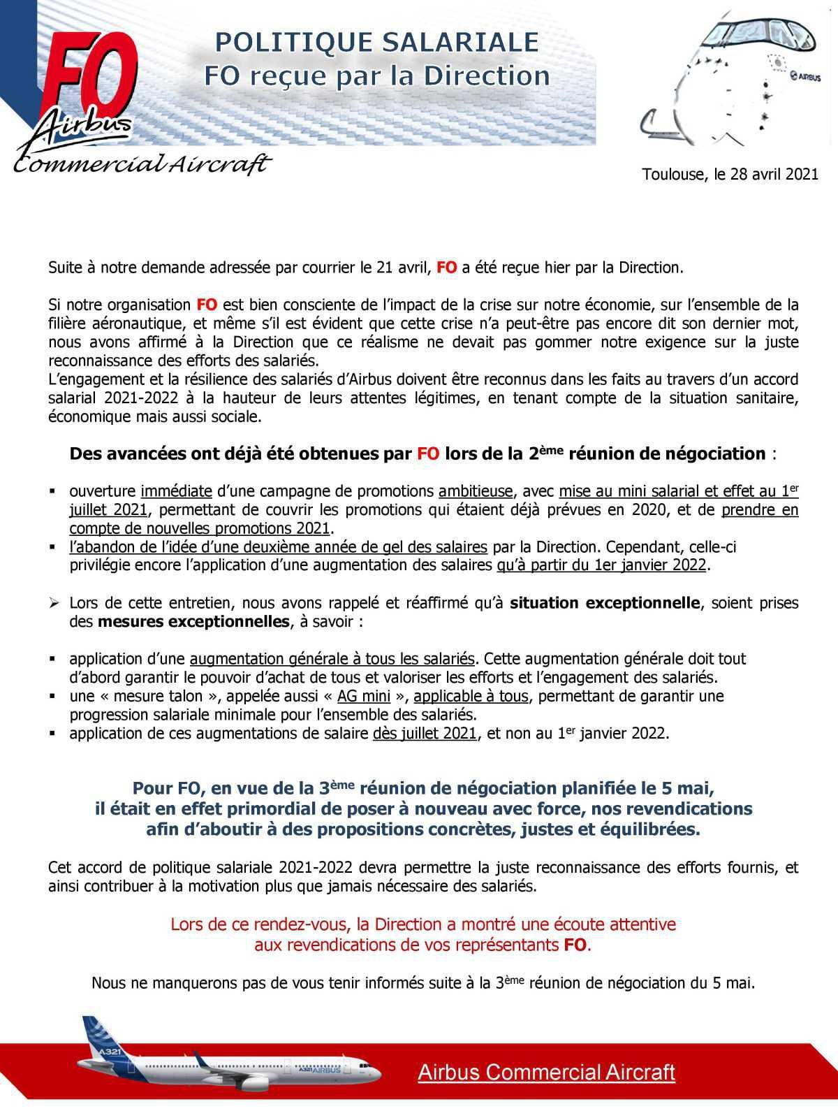 Rencontre FO/Direction politique salariale