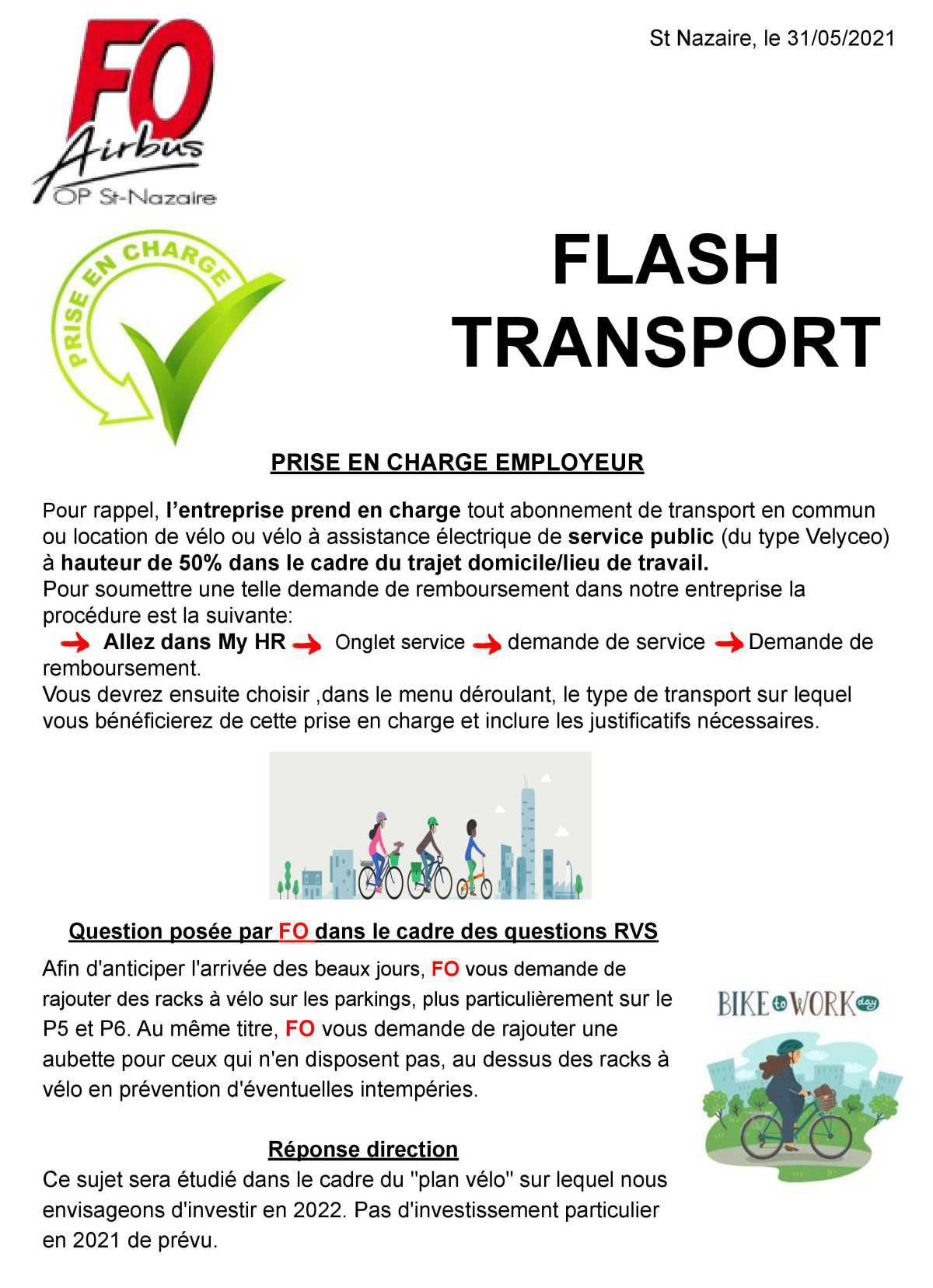 Flash Transport : Prise en charge employeur