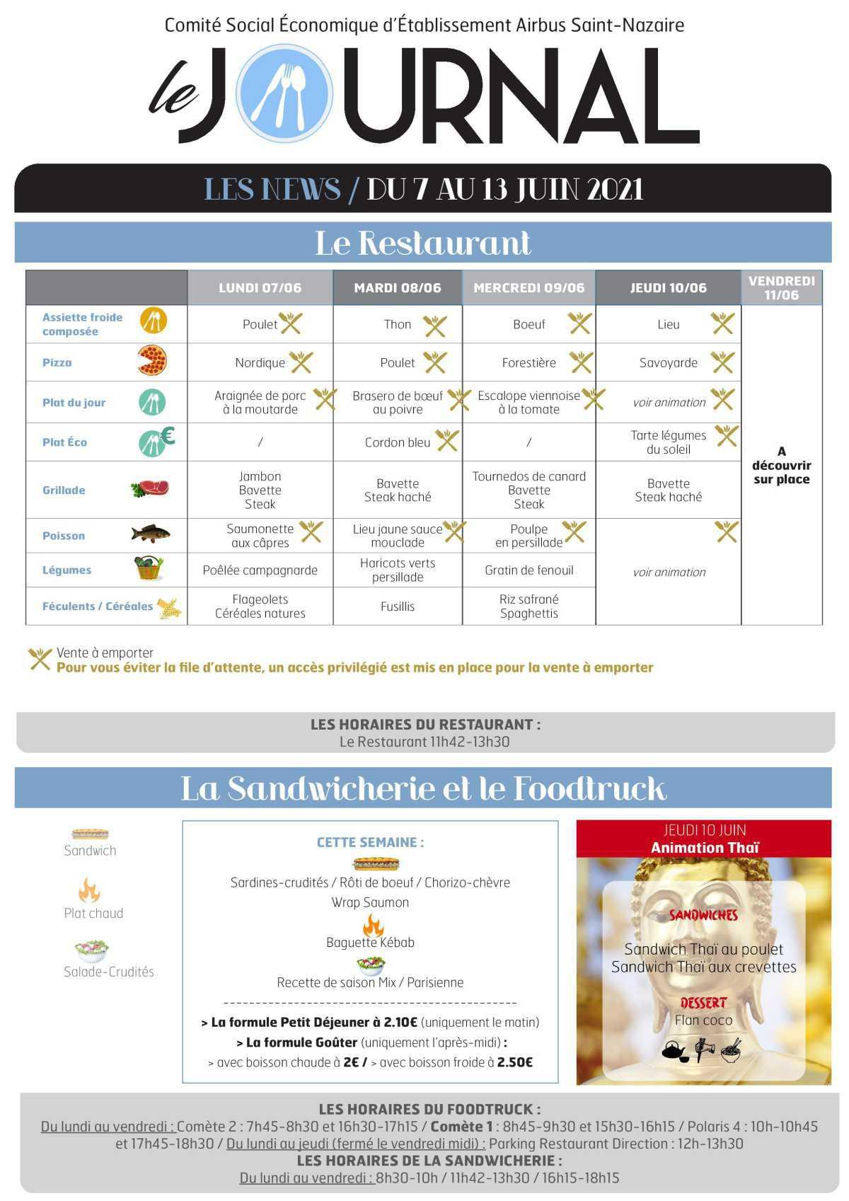 Informations du CSE et de la COOP semaine 23