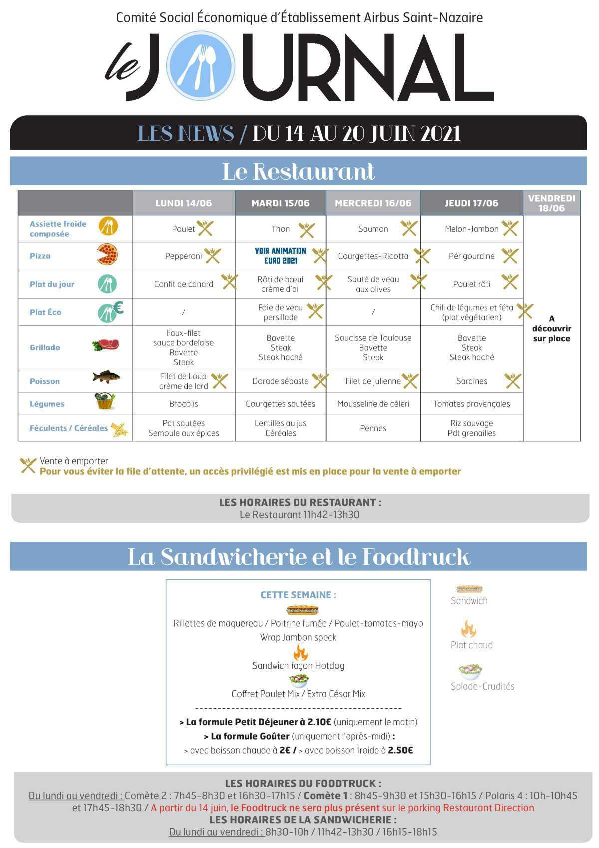 Informations du CSE et de la coopérative semaine 24