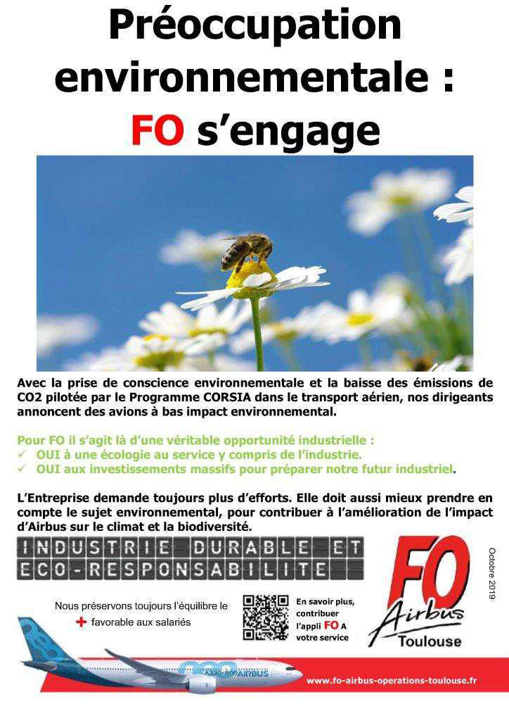 Préoccupation Environnementale, FO s'engage !