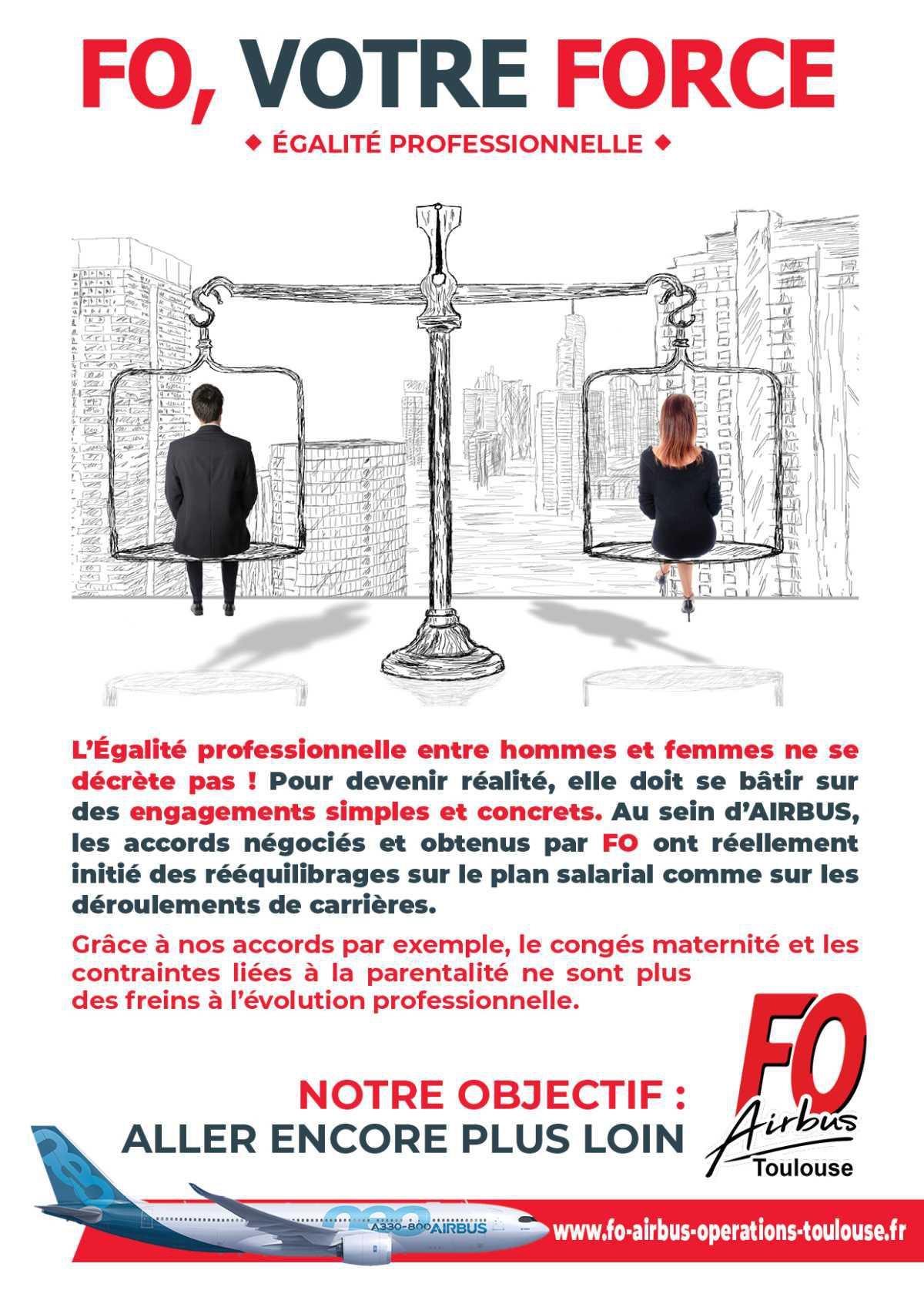 Egalité professionnelle, notre objectif, aller plus loin !