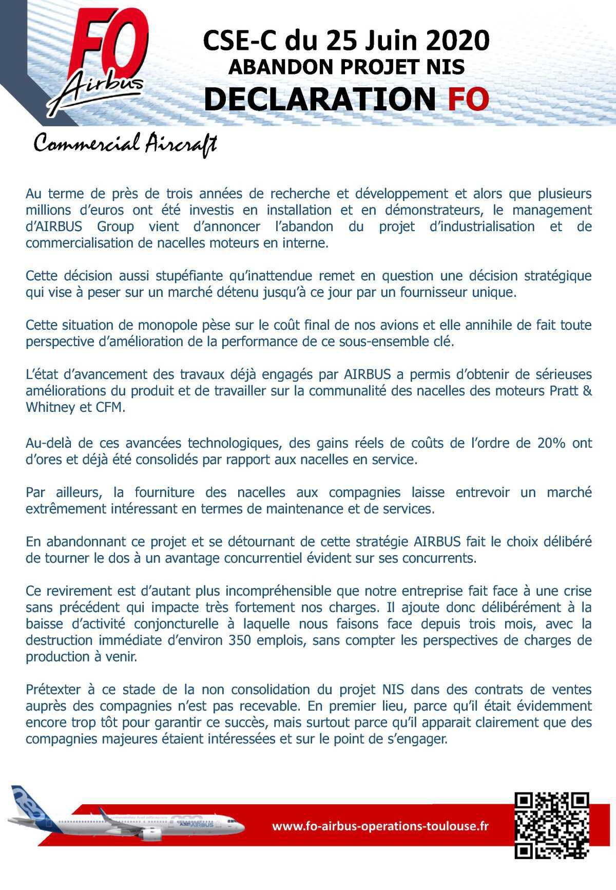 Déclaration CSE-C du 25 juin