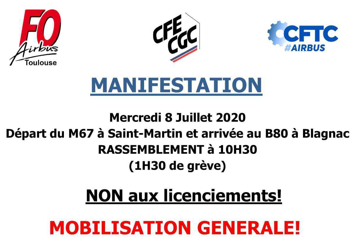 Manifestation du Mercredi 8 Juillet 2020