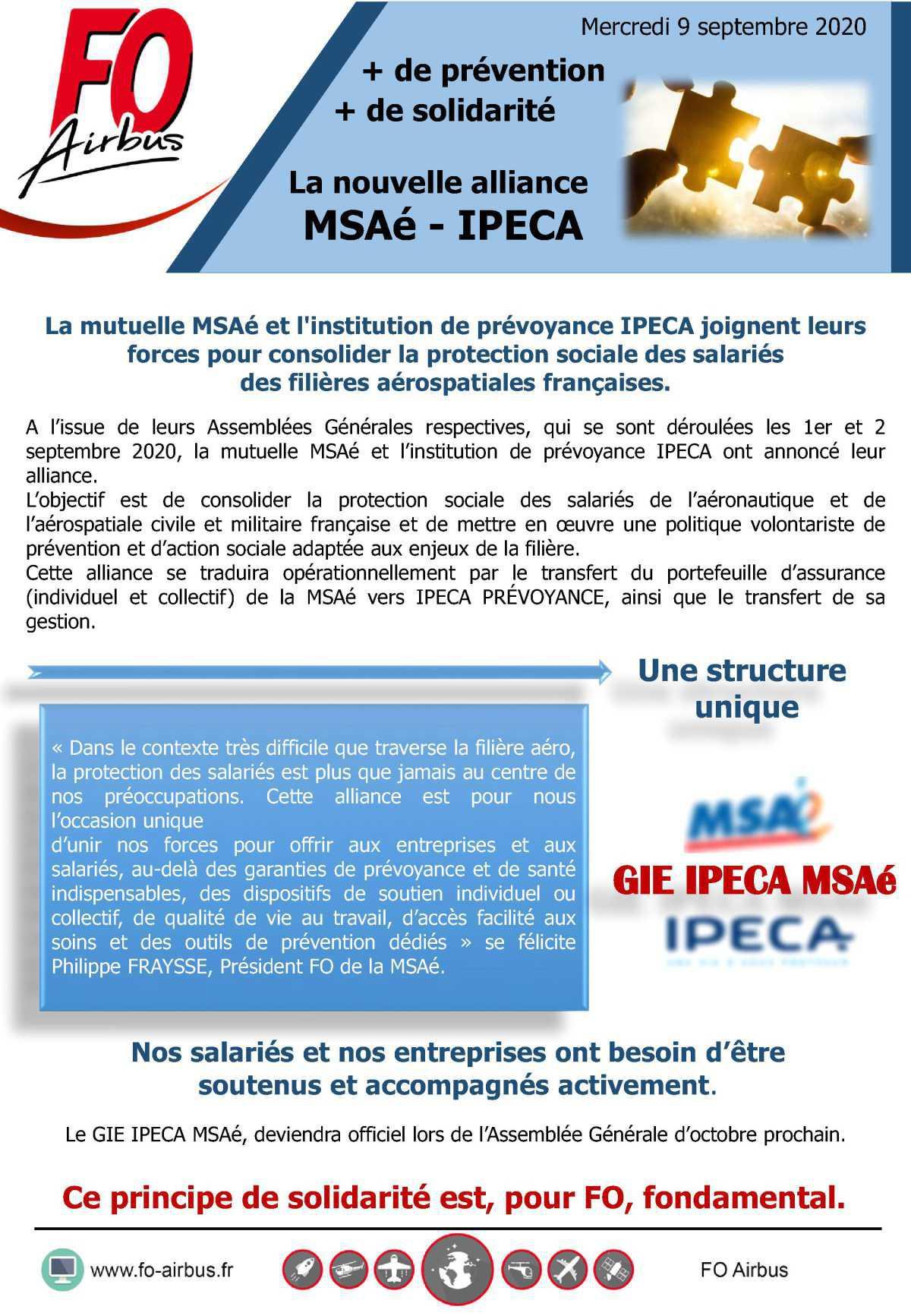 La nouvelle alliance MSAé-IPECA