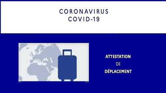 NOUVELLE ATTESTATION DE DÉPLACEMENT COVID 19