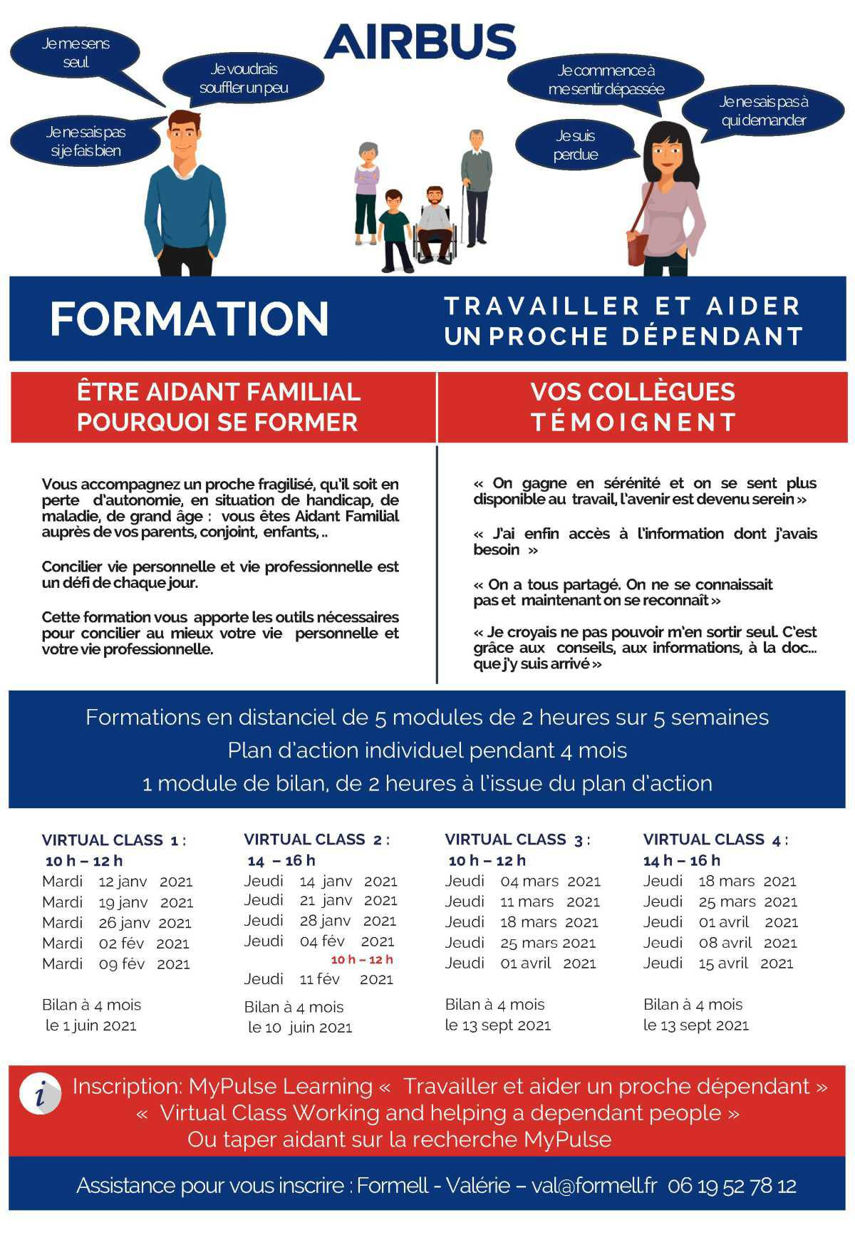 Aidant Familial : Des formations sont disponibles sous MyPulse Learning
