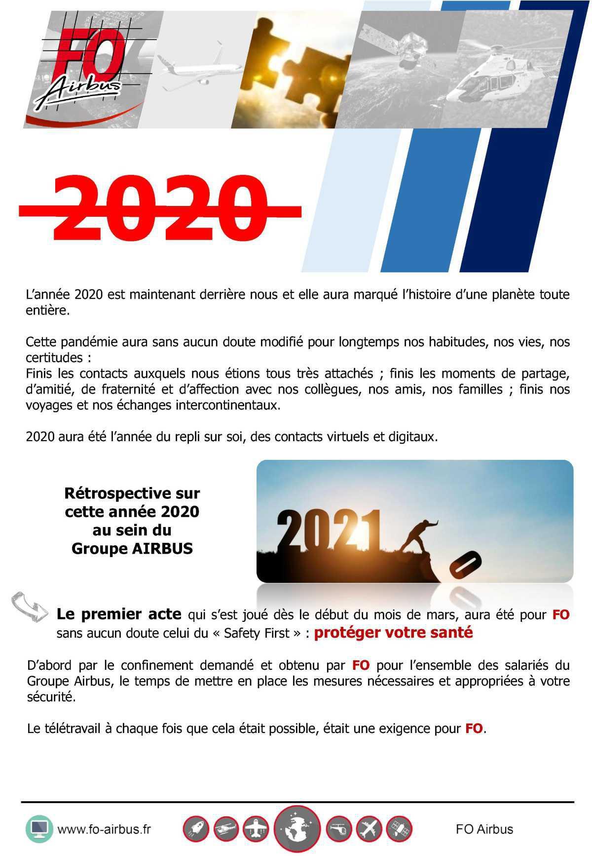 Rétrospective sur l'année 2020 au sein du Groupe AIRBUS