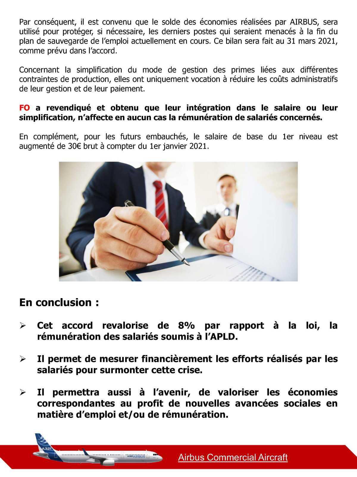 FO signe l'accord sur la rémunération de l' APLD à 92%