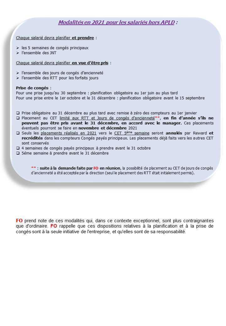 Info pratique: Planification des congés 2021 & 2022
