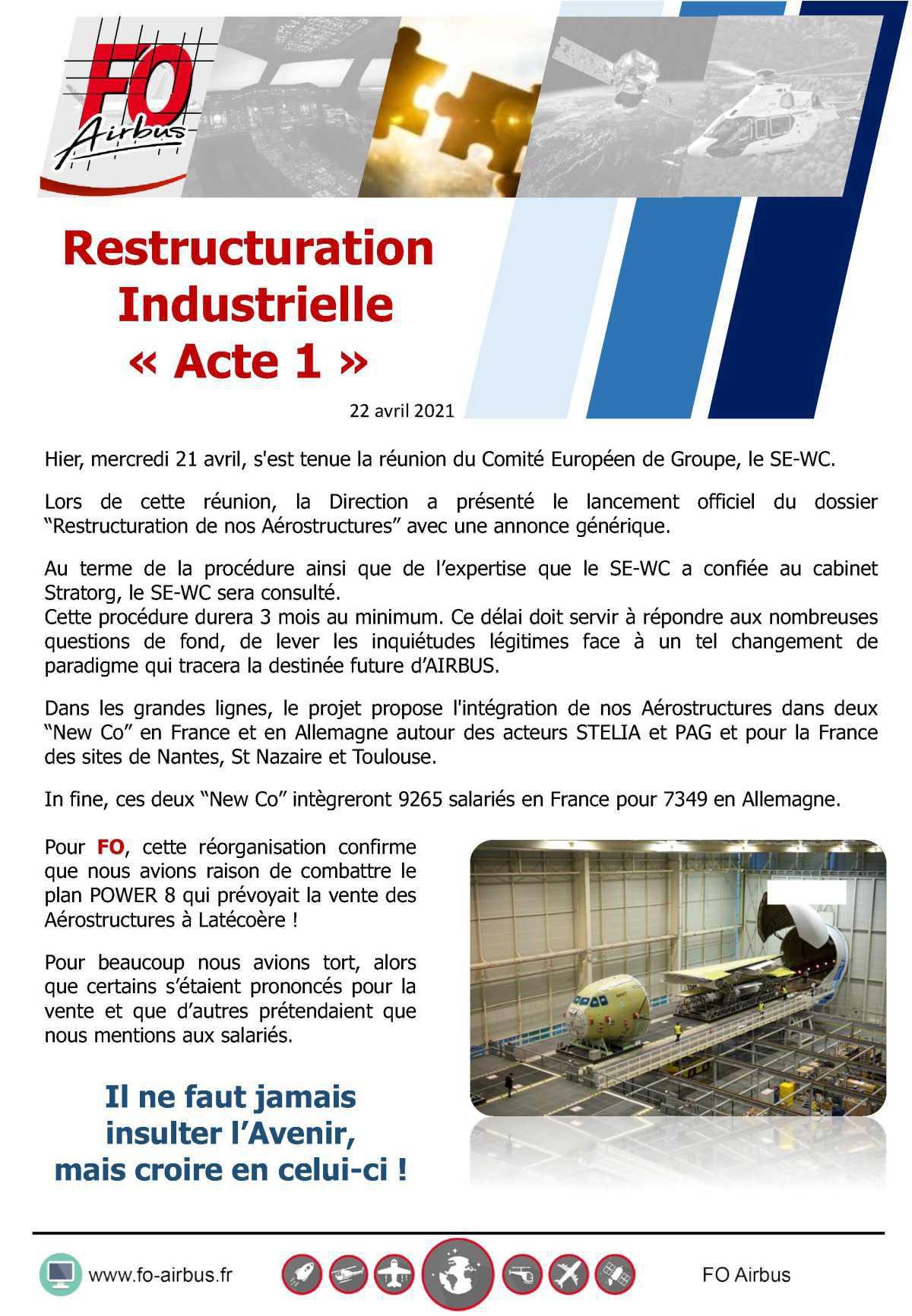 Restructuration Industrielle: Acte 1