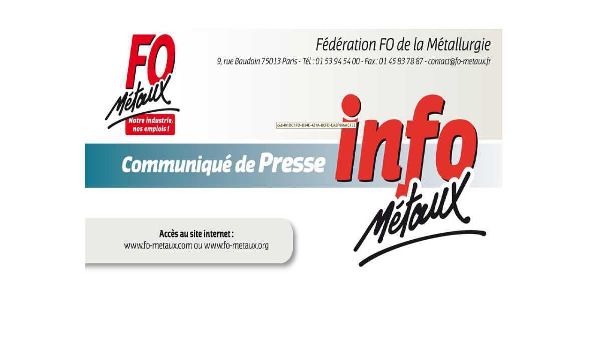 Communiqué de presse : Réorganisation industrielle, FO demande des garanties.