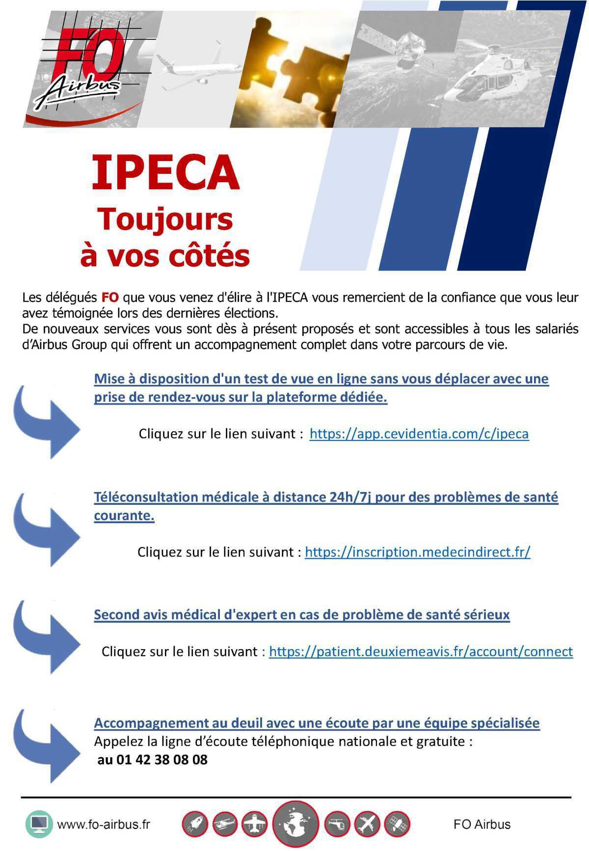 IPECA, Toujours à vos côtés