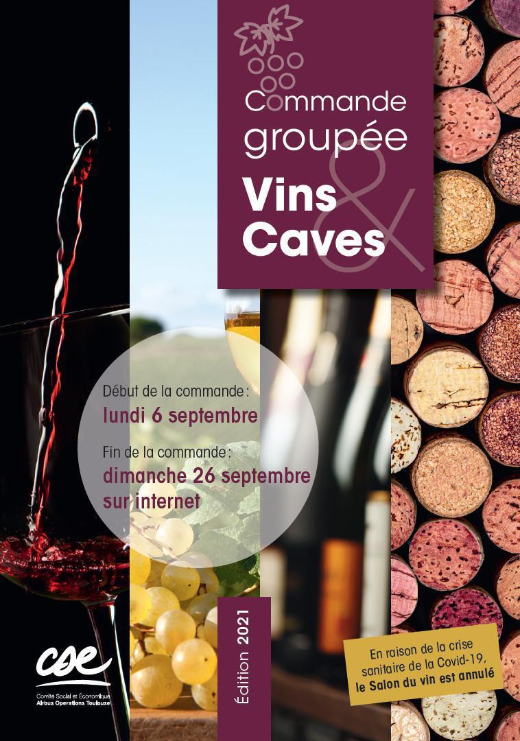 Commande groupée de vins et caves 2021 à la coopérative