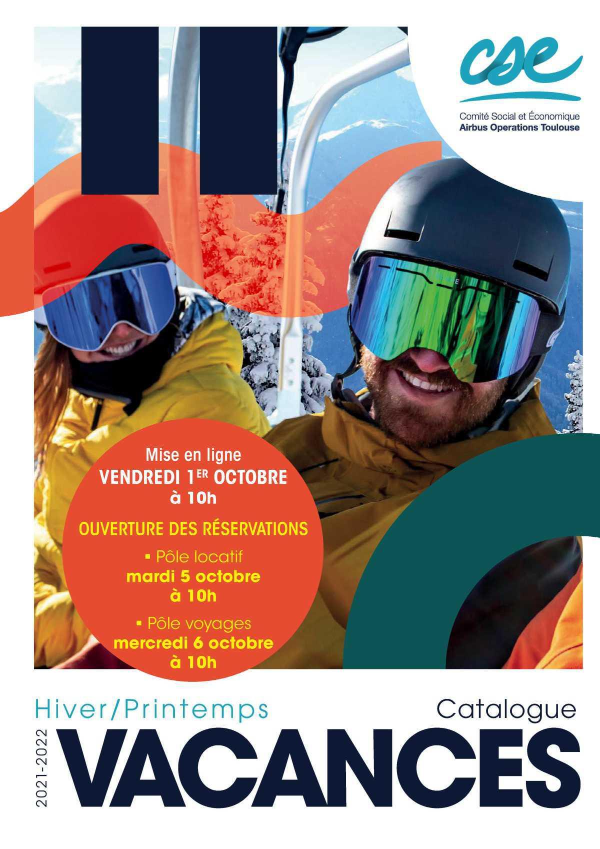 Le catalogue vacances hiver/printemps 2021/2022
