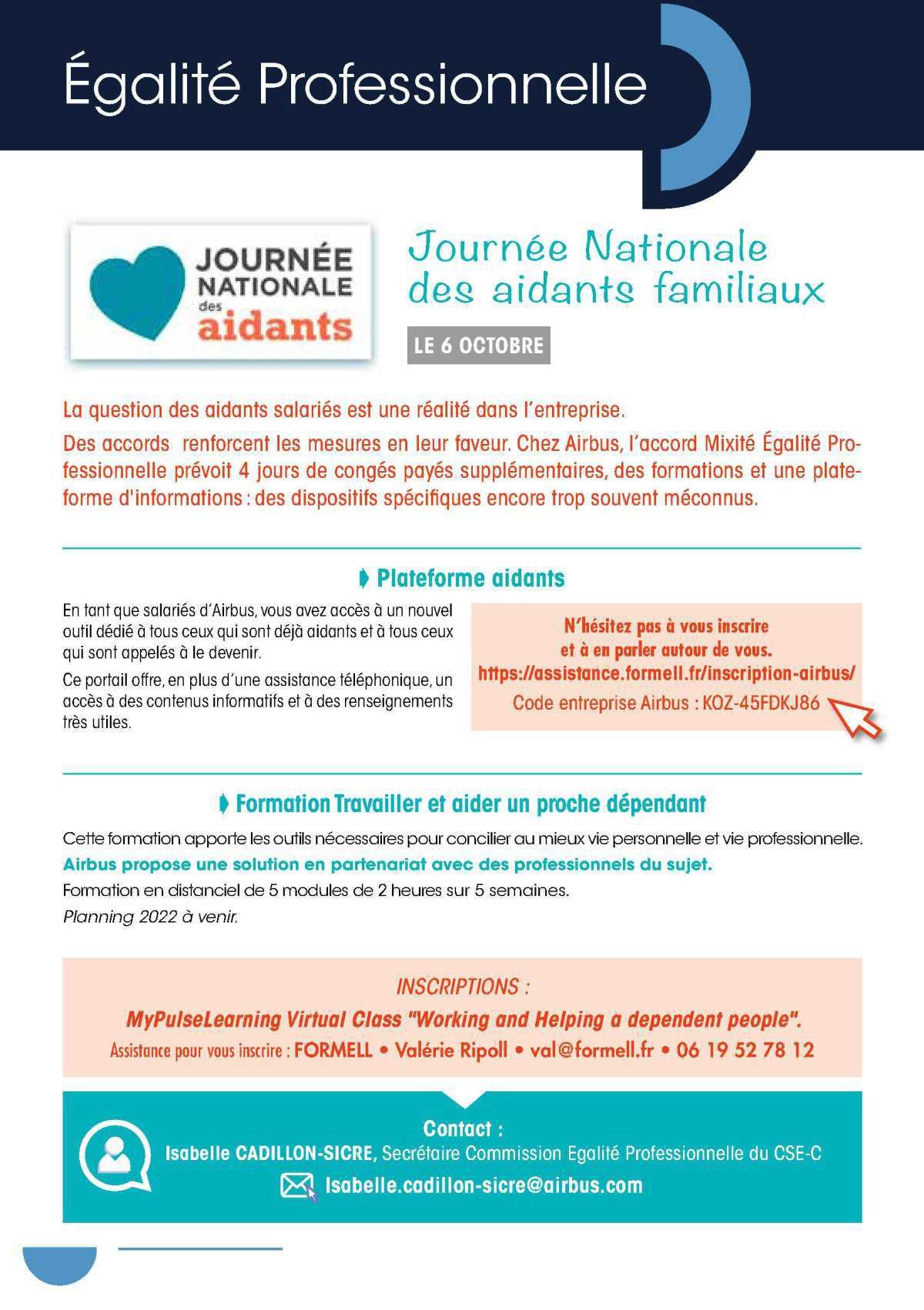 Journée nationale des aidants familiaux