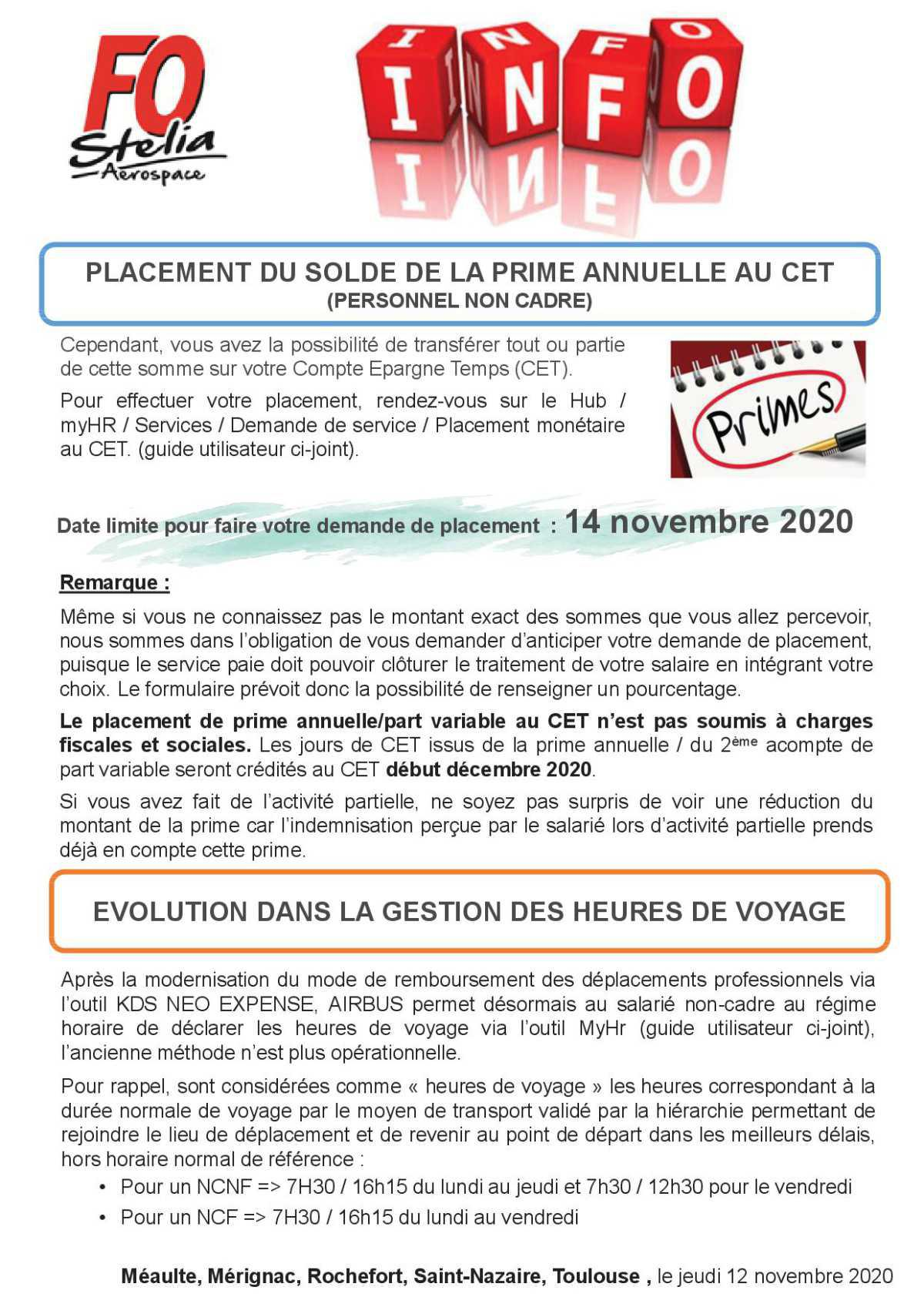 Informations FO