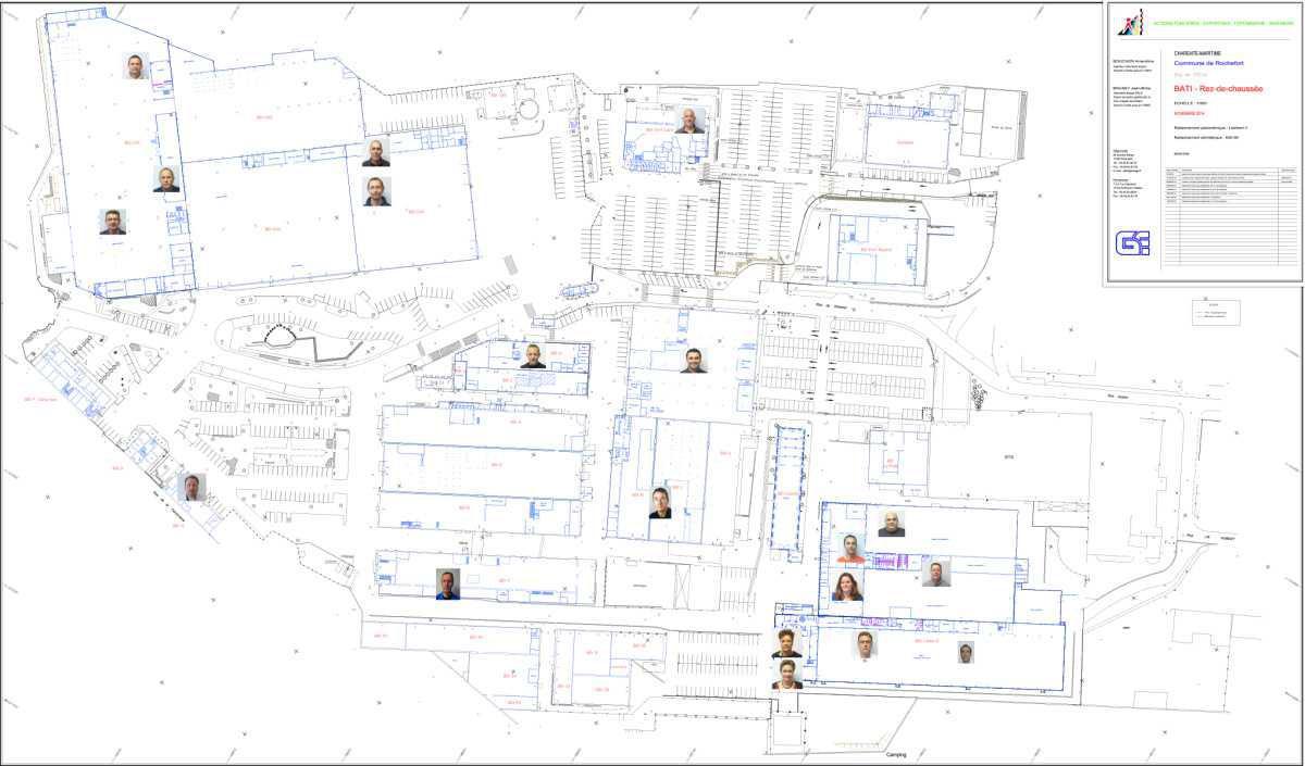 Plan de l'usine avec délégués