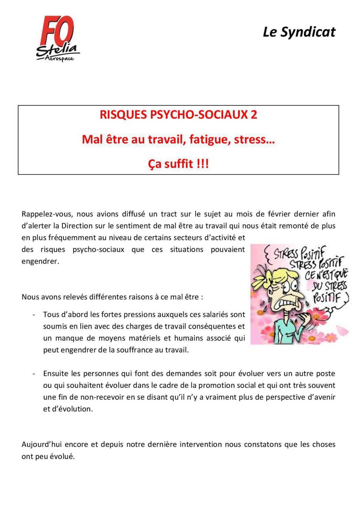 Risques psycho-sociaux 2