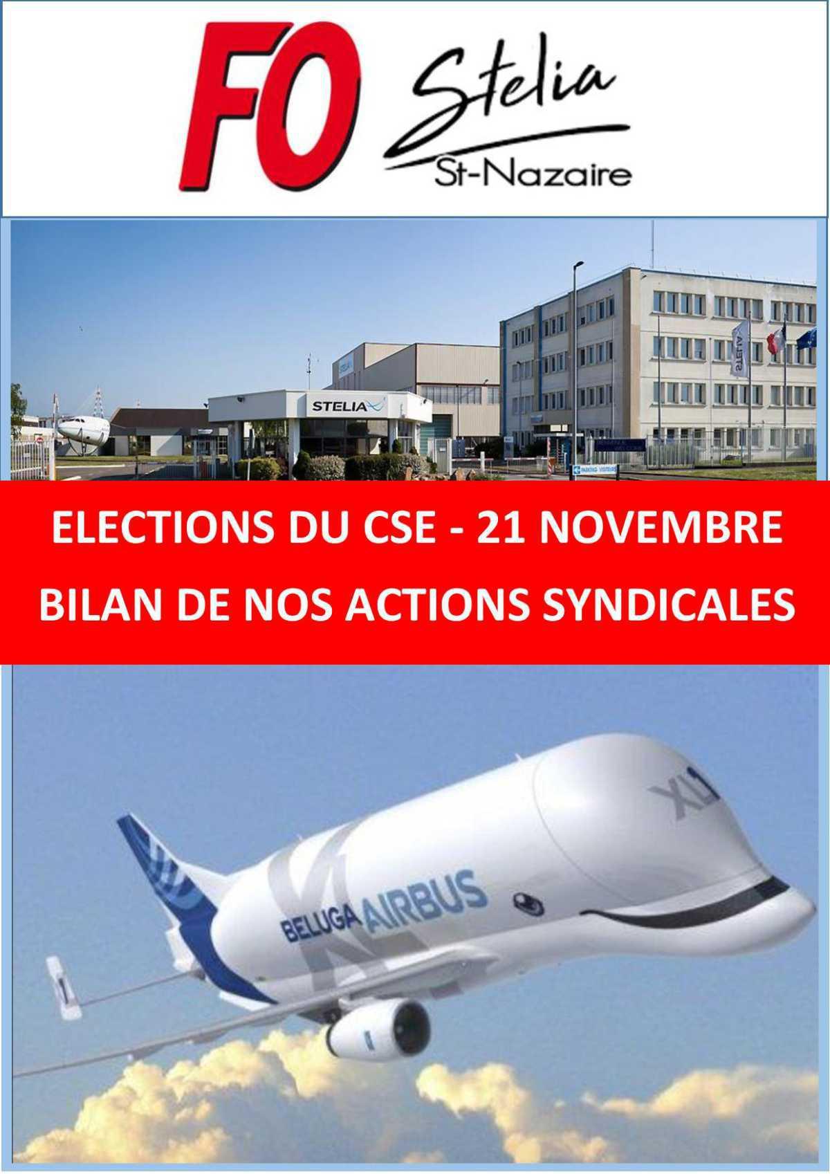 BILAN DE NOS ACTIONS